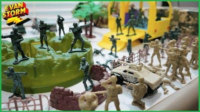 Pretend Play Plastic Army Men Fun Bucket