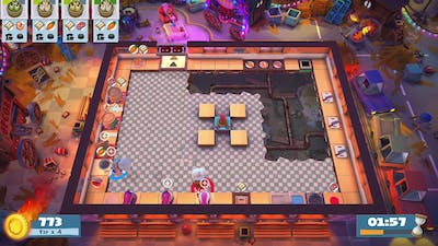 Overcooked 2 : Carnival of chaos - Kevin 3 - Co-op - 4 stars!