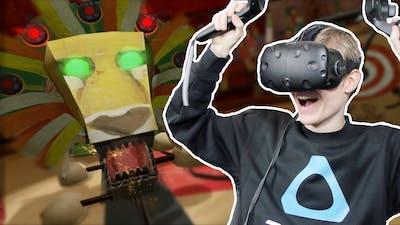 DANGEROUS LION TAMING IN VR! | Felt Tip Circus (HTC Vive Gameplay)