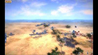 Real Warfare 2 Northern Crusades: multi battle with almost 70 units in the field no lag
