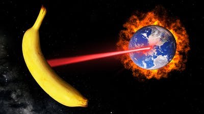 I DESTROYED EARTH WITH A GIANT BANANA. (Universe Sandbox)