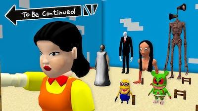 SIRENHEAD MOMO SLENDERMAN GRANY GUMMY BEAR.EXE MINION.EXE PLAYING SQUAD GAME in Minecraft