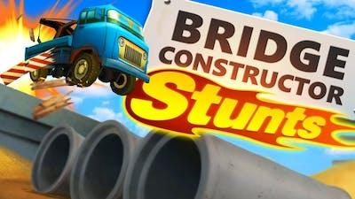 Crashing TRUCKS and EXPLODING BRIDGES in Bridge Constructor Stunts! (Bridge Constructor Gameplay)