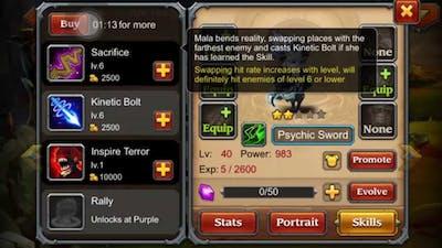 Heros charge: new hero psychic sword