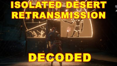 Assassin's Creed Origins Isolated Retransmission Decoded (Golden Tomb)