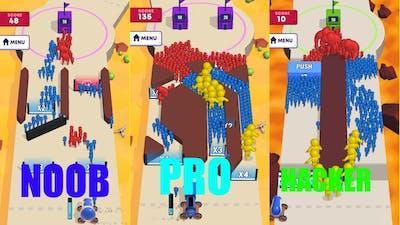 mob control game play - Noob vs pro vs hacker    protap gaming