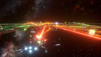 Stellaris - The First Galactic War   The Federation Defense
