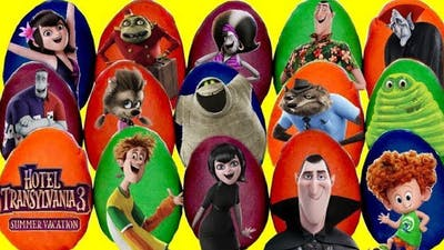 15 Play-doh Hotel Transylvania 3  & The Incredibles 2 Egg Toy Surprises