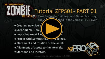 AGFPRO Zombie FPS Tutorial 01 Part 01