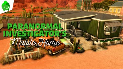 Paranormal Investigator's Mobile Home | The Sims 4 Paranormal Stuff: Speed Build