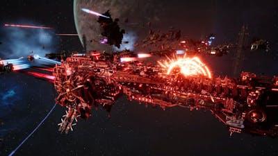 Skalgrim Mod 2021: Dark Angels vs Chaos - New Ships, Massive Battle, Battlefleet Gothic Armada 2