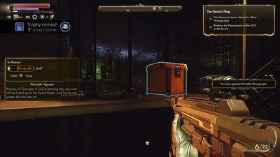 The Outer Worlds: Peril on Gorgon - Good Listener Trophy/Achievement (20 Phonographs)