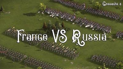 France VS Russia - Insane Line Massive Battle - Cossacks 3 Gameplay - Napoleonic Wars
