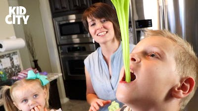 Kids Eat Slime! DIY Sour Slime Candy & Family Fun by KIDCITY