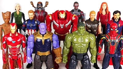 Thanos appeared with dinosaurs! Marvel Avengers Infinity War Hulk, Spider Man! Go! - DuDuPopTOY