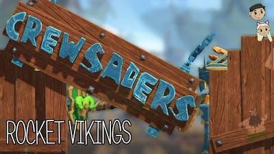 Crewsaders Gameplay #2 : ROCKET VIKINGS   2 Player