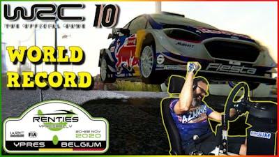 ✨ WRC 10 - ❗ Béigium ❗ ☝World Record ⭐ Ford Fiesta WRC || Thrustmaster DC Simracing Setup