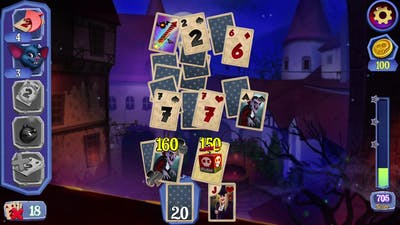 Dracula Solitaire Gameplay (PC Game)