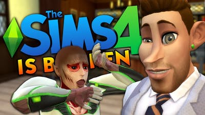 My Game Is SO BROKEN - The Sims 4 Funny Highlights #131