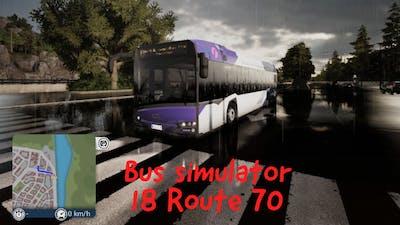 Bus simulator 18 Route 70