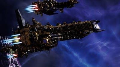 Skalgrim Mod 2021: Eternal Crusader - Imperial Fists vs Chaos - Battlefleet Gothic Armada 2