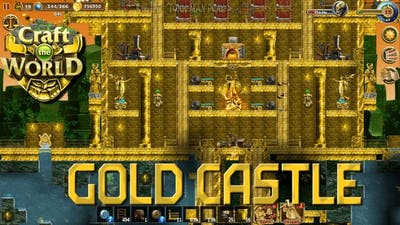 Gold castle. Jungle planet►Craft the World