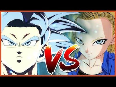 Dragon Ball Fighterz DLC Android 18 VS Goku Ultra Instinct