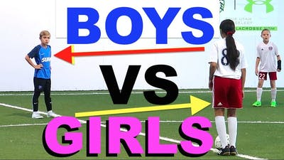 BOYS vs GIRLS Indoor Soccer Battle! Utah Surf 07 vs USA Elite 07
