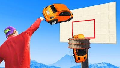 SLAM DUNK Basketball Minigame! - GTA 5 Funny Moments
