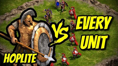 HOPLITE vs EVERY UNIT | Age of Empires: Definitive Edition