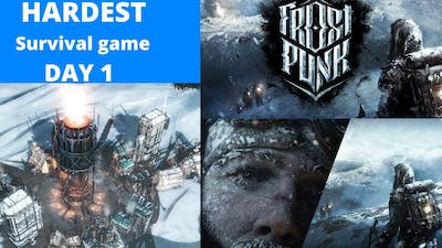 """HARDEST SURVIVAL GAME Day 1  """" FROSTPUNK """" FULL  GAMEPLAY STRATEGY   100 %  WORKING"""