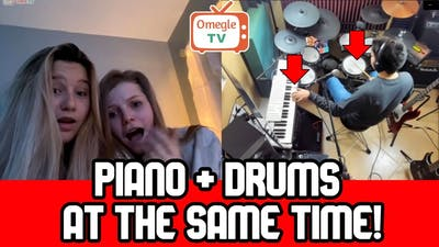PIANO and DRUMS at the SAME TIME! (I Found Omegle Talent)