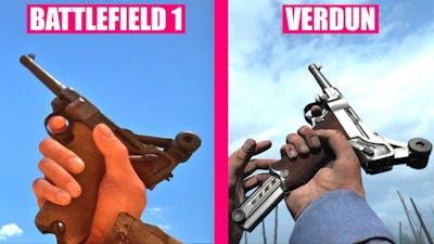 BATTLEFIELD 1 Guns Reload Animations vs Verdun