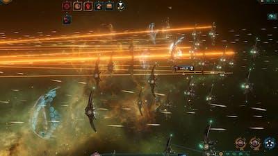 The battle with awakened materialistic Fallen Empire (290k vs 503k) - Stellaris