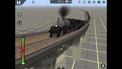 Galaxy Railways big one rescues a broken down train(Trainz driver 2)