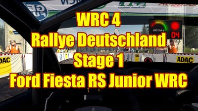 Junior WRC 4 PC Gameplay Career Rallye Deutschland SS1 Ford Fiesta RS