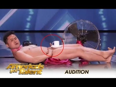 The Naked Man From Japan Performs TRADITIONAL Naked Act! | America's Got Talent 2018