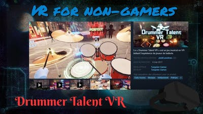 Playing Drums With Drummer Talent VR