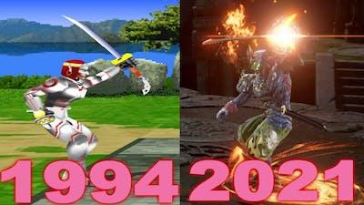 Evolution of Yoshimitsu Sword stap In 20 Games (1994-2021)