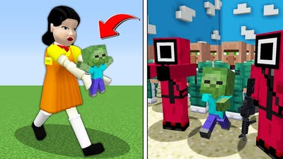SQUİD GAME KÜÇÜK ZOMBİYİ KAÇIRDI 😱 - Minecraft
