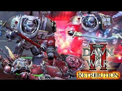 Grey Knights Paladins vs Chaos (Word Bearers) - Astartes Mod 2021 | WH40K Dawn of War 2: Retribution