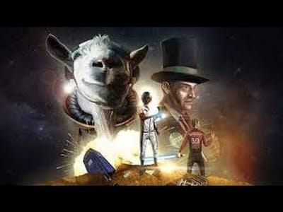 Goat Simulator 'Waste of Space DLC' Part 1\ 'Unlocking Hoverbike & Lag!'