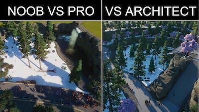 Planet Zoo | NOOB vs PRO vs ARCHITECT | Siberian Tiger Habitat