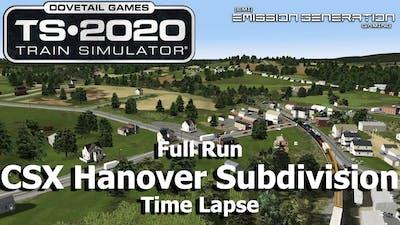 CSX Hanover Subdivision - Time Lapse - Train Simulator 2020