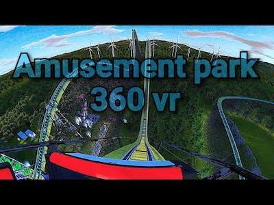 Amusement park rides in 360° vr  💀 Skull Mountain Amusement park