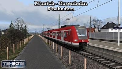 Train Simulator 2016 - Career Mode - Munich - Rosenheim - S-Bahn Run Part 1