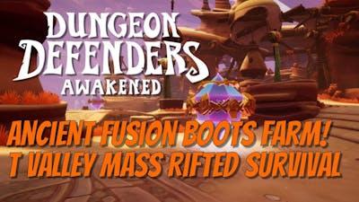 DDA Tornado Valley Ancient Fusion Boots Farm!