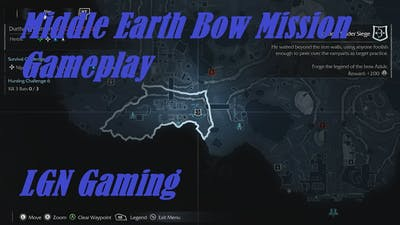 Middle Earth Shadow of Mordor Bow Mission Gameplay