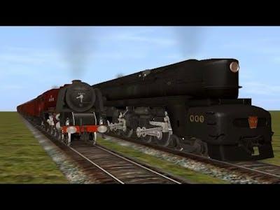 Trainz Race: LMS Duchess vs PRR T1