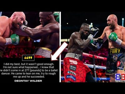 """EPIC: DEONTAY WILDER RESPONDS TO KNOCKOUT LOSS GIVES TYSON FURY CREDIT ! """"I GAVE EVERYTHING I HAD"""""""